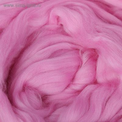 Гребенная лента 100% тонкая мериносовая шерсть 100гр (0156, сир.дали)