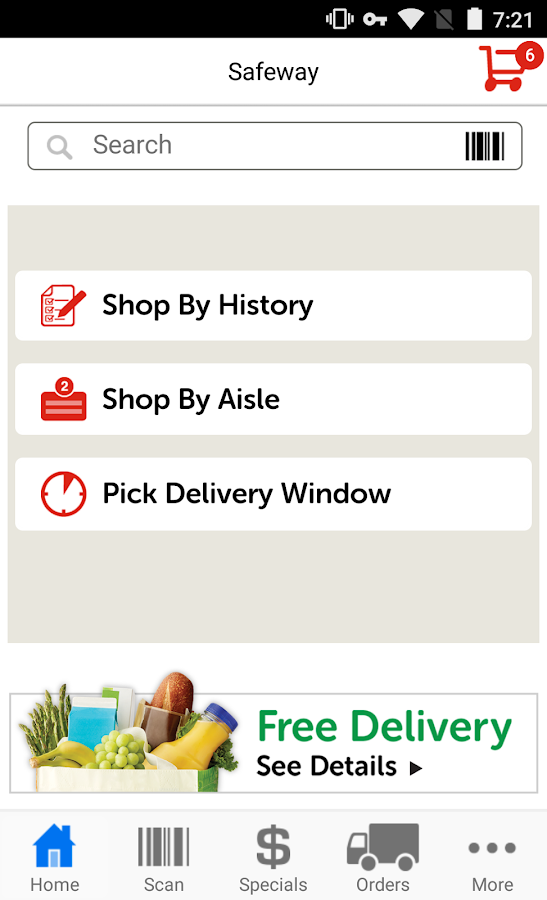 Safeway Delivery- screenshot