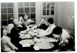 Photo: Frank Stapleton's 10th Birthday II, January 19, 1959 Ruth Malmgren, Corky Holt, Lois Leavitt, Frank Stapleton, Lindsey Buckingham, Bruce Siegel, Sue Gamlen, Russell Ehrman (L to R )