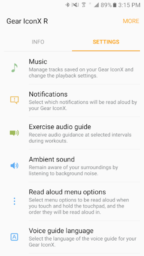 google play music to gear iconx