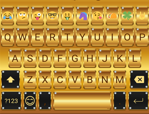 Gold Emoji Keyboard Theme for PC