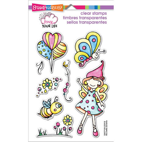 Stampendous Pink Your Life Perfectly Clear Stamps 4X6 - Whisper Fly By UTGÅENDE
