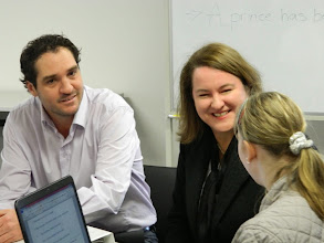 Photo: With Onemda CEO Simon Lewis showcasing their 'Careers Central' project.
