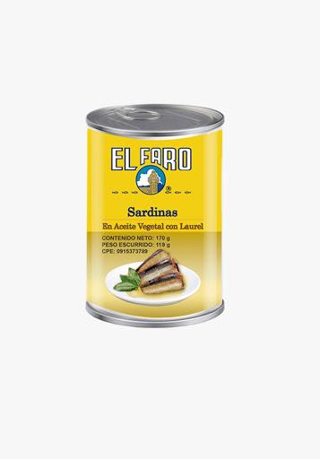 sardina el faro en aceite con laurel 170gr