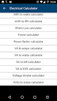 Electrical calculator pro apk latest version download free tools electrical calculator pro poster greentooth Gallery
