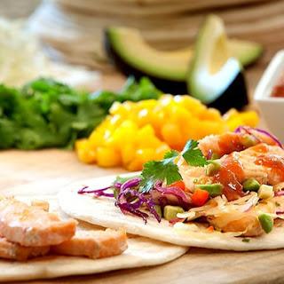 Mango Habanero Salmon Tacos Recipe