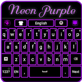 Neon Purple Keyboard
