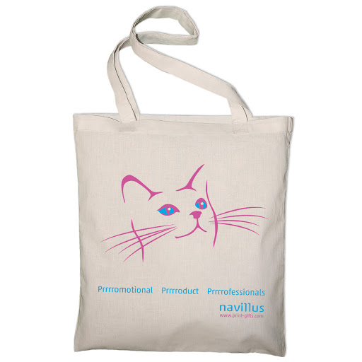 Printed Cotton Shopping Bags (Long Handles)