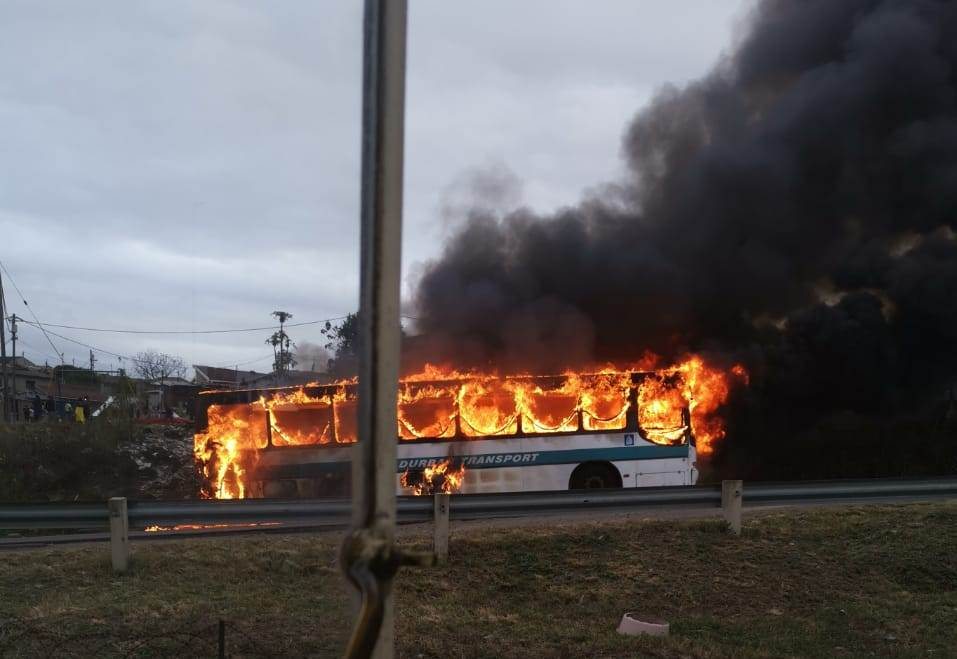 WATCH | Blaze guts bus outside Durban school - SowetanLIVE