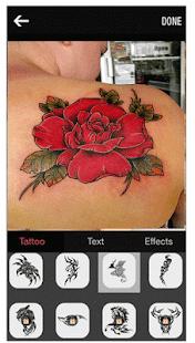 tattoos my photo editor - náhled