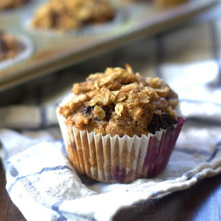 Vegan Blackberry Muffins with Oatmeal Streusel Topping.
