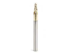 "Amana Tool 46288 ZrN Coated Ball End Mill for Aluminum 1/4"" SH, 1/8"" D"
