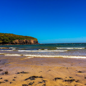 Brown blue beach by Raymond Fitzgerald - Landscapes Beaches ( dunmore east, water, waterford beach, ireland )