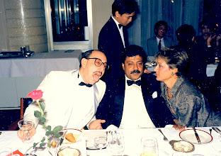 Photo: Gopal is polite, but Frederique has heard all this blah before!! Carlton Hotel 1986