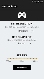 App GFX Tool for COD - Max fps APK for Windows Phone
