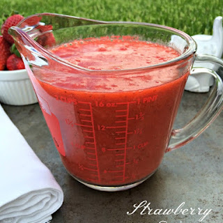 Strawberry Coulis.