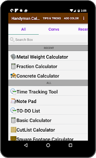Handyman Calculator- screenshot thumbnail