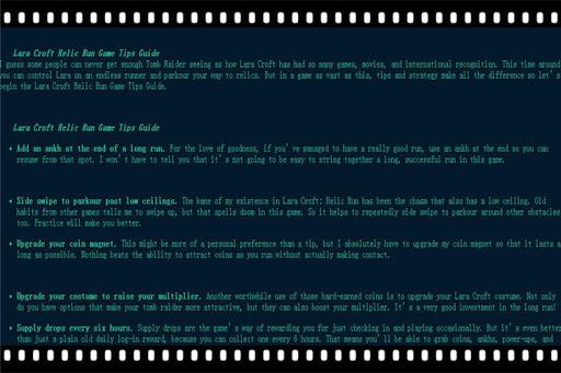 Croft Guide 4 Lara Relic Run