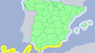 Aviso amarillo por oleaje en todo el litoral almeriense hasta las 18 horas del viernes.