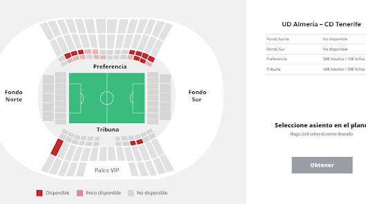 ¡200 entradas para el Almería-Tenerife!