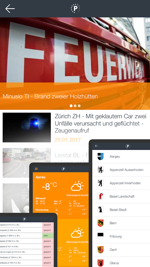 POLIZEITICKER APP 2017- screenshot
