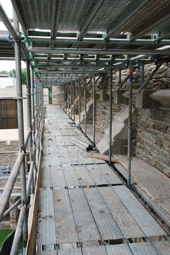 Scaffolding At Bryn Mawr College M Carey Thomas Library