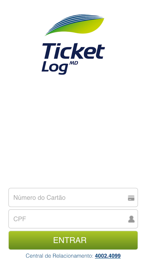 Ticket Log: captura de tela