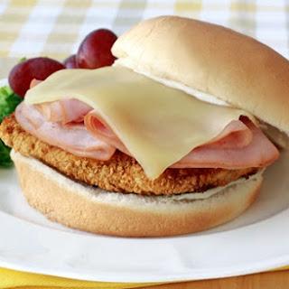 Healthy Chicken Cordon Bleu Sandwich