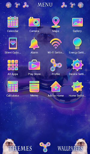 Cool Wallpaper Space Cat & Spinners Theme 1.0.0 Windows u7528 2