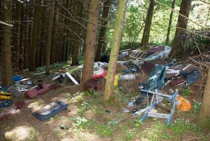 Fined for fly-tipping in Forden
