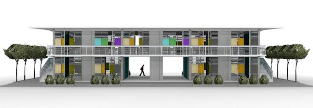 Photo: Vue des bâtiments principaux