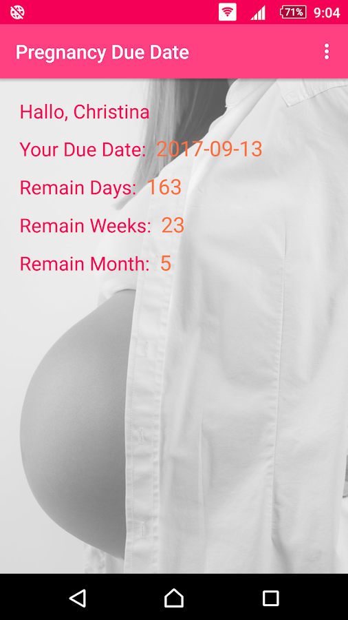 Pregnancy Due Date Calculator- screenshot