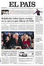 Photo: Rubalcaba toma ligera ventaja en la carrera del PSOE y la victoria de Gingrich en nuestra portada http://www.elpais.com/static/misc/portada20120123.pdf