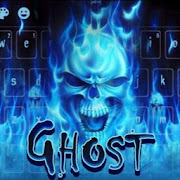 Blue Fire Skull Keyboard