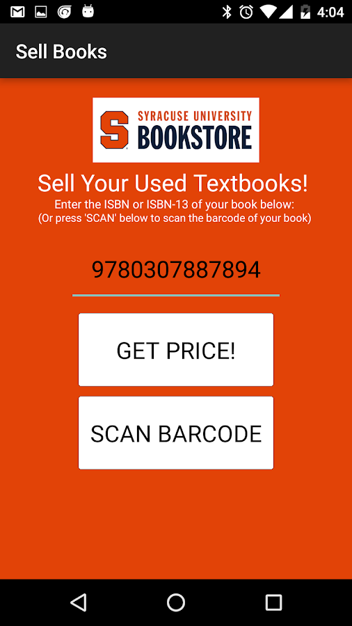 Sell Books Syracuse University- screenshot