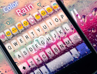 COLOR RAIN Emoji Keyboard Skin screenshot 4