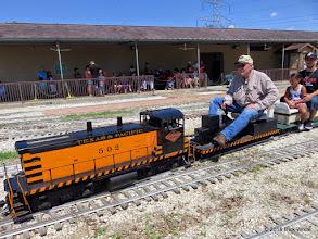 Photo: Bob Barnett pulling passengers with his T&P 502.  Station still has riders waiting at 1:29 PM.      HALS Public Run Day 2015-0919 RPW