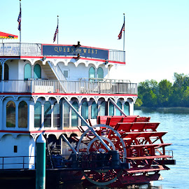 Queen of the West by Rob Bradshaw - Transportation Boats ( columbia river, paddlewheeler, queen of the west, richland, boats, washington, transportation )