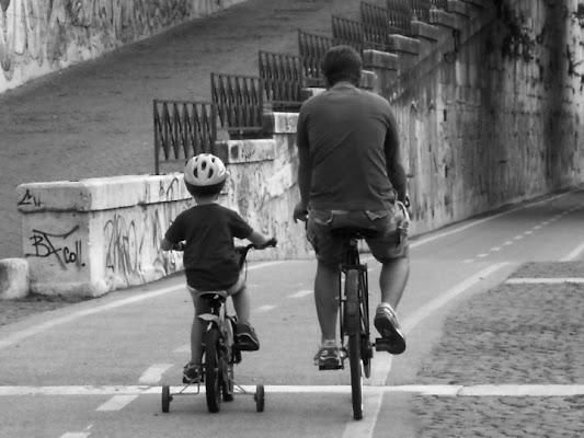 A lezione di bicicletta di Assunta
