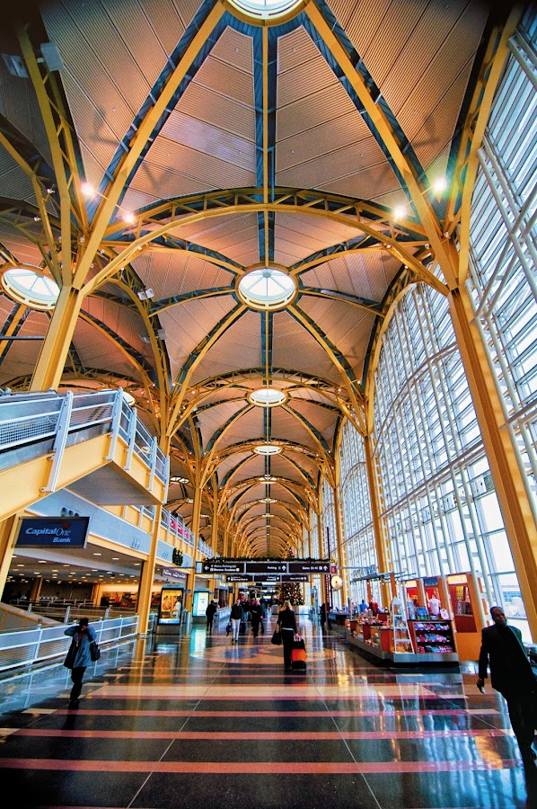 Airport Terminal by Fred Walker - Buildings & Architecture Other Interior ( airport )
