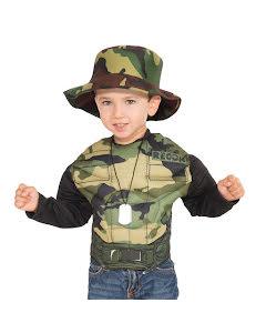 Barndräkt, muskulös militär 4-6 år