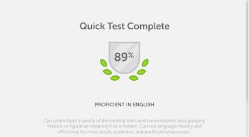 Screenshot of Duolingo Test Center