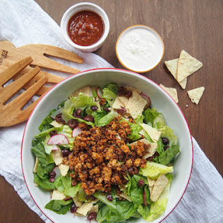 Vegan Tempeh Taco Salad with Cashew Sour Cream