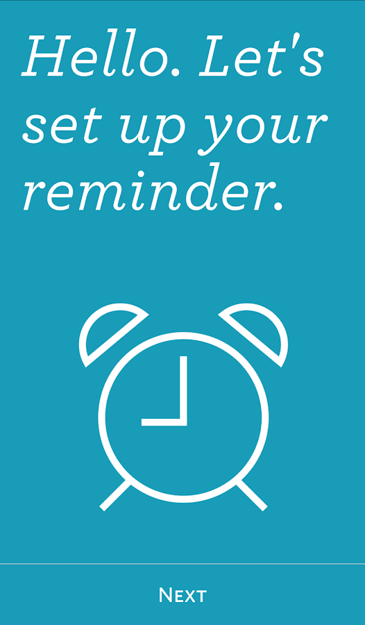 Bedsider Reminders- screenshot