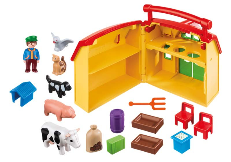 Contenido real de Playmobil® 6962 Granja Maletín