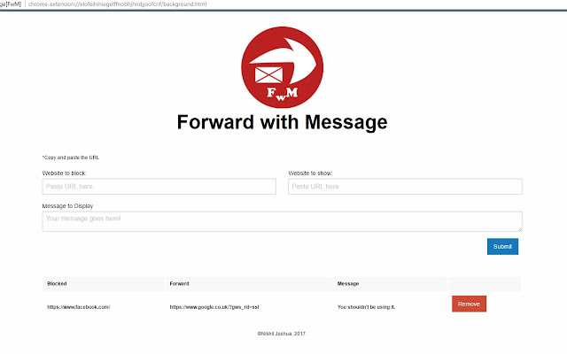 Forward with Message[FwM]