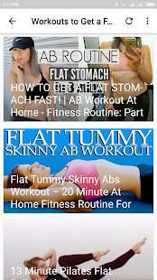 Workouts to Get a Flat Stomach - náhled