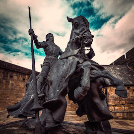 Defender by Malcolm Hare - Buildings & Architecture Statues & Monuments ( rider, statue, horse, castle, alnwick )