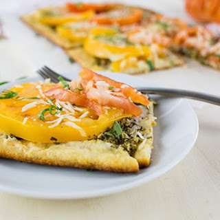 Heirloom Tomato and Pesto Tart