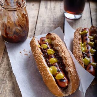Air Fryer Hot Dogs.
